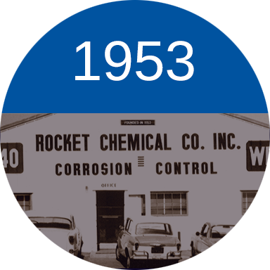 In 1953, a fledgling company called Rocket Chemical Company and its staff of three set out to create a line of rust-prevention solvents and degreasers for use in the aerospace industry, in a small lab in San Diego, California