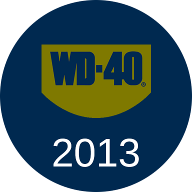 By mid-2013, the WD-40 Company celebrated its 60th Anniversary and the WD-40 Specialist product line had grown to eight products.
